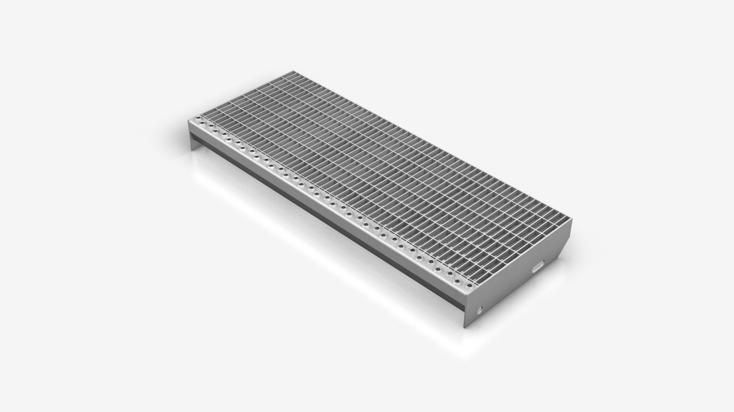 Gitterrost-Treppenstufe Typ P
