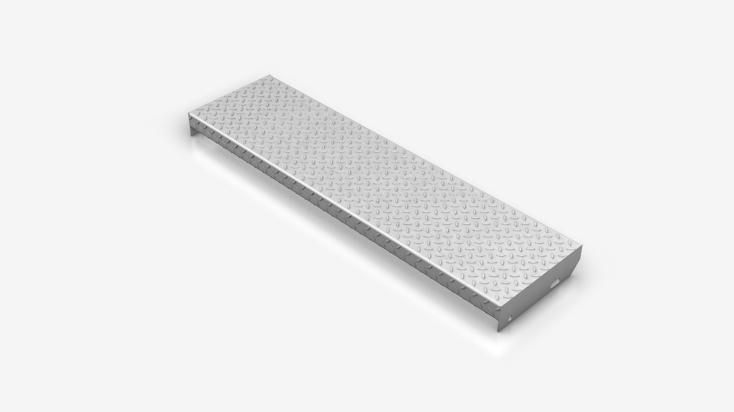 Checker plates stair tread