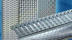 Perforated sheet gratings by Panne